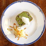 Cafe&Deli COOK - スイーツセット 850円 の抹茶とホワイトチョコのキャトルキャール