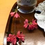 廚菓子くろぎ - 生花です