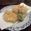 しのはら - 料理写真:「下仁田葱と桜海老のかき揚げ」