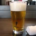 ホルモンA - 「生ビール」アサヒスーパードライ。なんと200円でし。