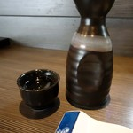 ホルモンA - 「菊水の辛口」熱燗1合。