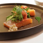 Le Temps Perdu - 絹姫サーモンと春野菜