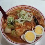 蒙古タンメン中本 - 五目味噌タンメン+野菜大盛+麺大盛
