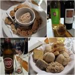 Hotel Miramar - 夕食/お通し&パン/ワイン&ビール