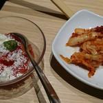 しゃぶしゃぶ温野菜 - トマトのイタリアンサラダ&キムチ