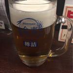 餃座男 - 飲み放題ビール(金麦)