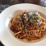 パスタ・ディ・フランコ - スパゲッティー ネギトロまぐろのトマト煮込みソース