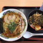 つるべや - 料理写真:中華そば+ミニ天丼
