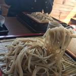 手打そば 木の香 - 細く切られた麺