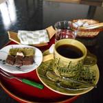 普段着きものカフェ サダ子さん - ドリンク写真:本日のミニおやつセット♡