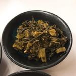 博多天ぷら なぐや - 高菜の油炒め オススメです^_^