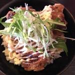 ちょんまげ食堂 ラーメン部 - 鶏唐揚丼☆★★☆