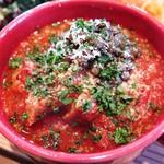 64196590 - 牛タンとトリッパのトマト煮のアップ