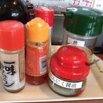 天下ご麺 - 料理写真:卓上の調味料