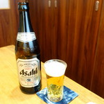 寿司 高瀬 - ビール中瓶800円+税