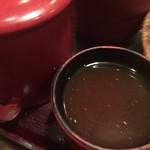 そじ坊 - 蕎麦湯