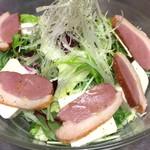 gite - 鴨スモークと豆腐のサラダ
