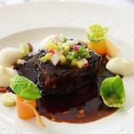 レストラン タテル ヨシノ 銀座 - 牛ホホ肉の赤ワイン煮込み