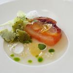 レストラン タテル ヨシノ 銀座 -  柑橘類のテリーヌ