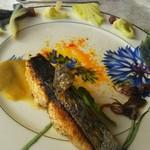 64217476 - 地魚(サワラ)のポワレ 白菜のソースで