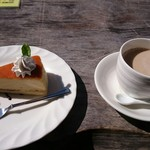 シャーレ水ヶ浜 - ケーキセット、カフェ・オーレ