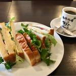珈琲牧場 - 料理写真:ミックスサンド & 牧場ブレンドコーヒー