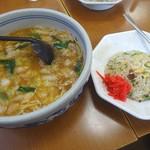 らーめんジャン - 料理写真:ジャンラーメン+ミニチャーハンセット(850円+税)