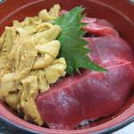 魚喰いの大間んぞく - ウニマグロ丼