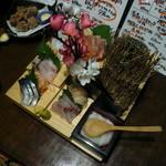 津軽の酒処 わたみ - 刺身の階段盛り
