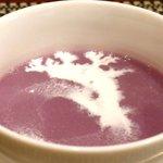 バティチ - Aランチ+カフェ 1000円 の紫芋のポタージュ
