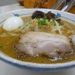 らぁ麺 波 - 味噌+半熟玉子
