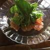仙人掌 - 料理写真:自家製マリネサーモンのサラダ