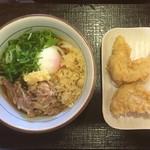 製麺大学 - 料理写真:肉玉ぶっかけ+とり天