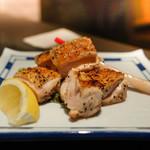 京都 八起庵 - 鶏もも肉の黒胡椒焼き