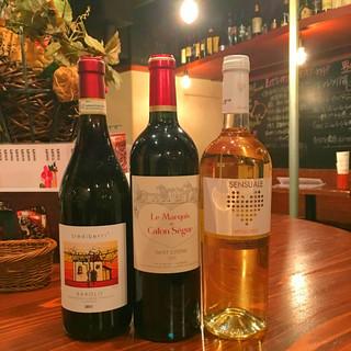 手に入れずらい珍しいワインが楽しめるのも当店の魅力