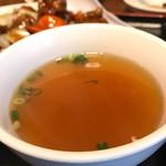 佳華 - 酢豚セットのスープ