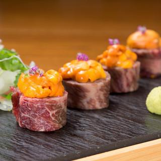 斬新和食和食の料理人が世界各国の食材をアレンジした橙家和食