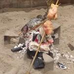 ごきげんさん - 岩魚串焼きと若鶏串焼き