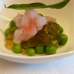 イタリアン オット - 海老、えんどう豆、コンソメジュレ