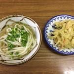宮武製麺所 - かけ小&カキアゲ
