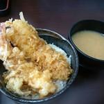 御食事処 たこ八 - ミニ海老・穴子丼(648円)