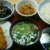 Higashioumigokashoushokudou - 料理写真:一汁三菜メニューです。これだけ食べても700円ちょっとです。