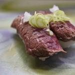 笹山 - 牛肉の炙り