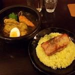 kanakoのスープカレー屋さん - 大魔神セット(1300円)です。