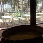 記念の森レストハウス - 抹茶ラテと景色