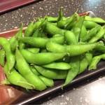 つくも - お通しの枝豆