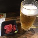 ちょい吉 - マグロブツ、生ビール