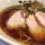 ラーメンムギュ - オニバラ黒   細麺ストレート