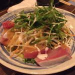 俺たちの漁師小屋 - 海鮮サラダ。海鮮がとても新鮮。とにかく美味しい。
