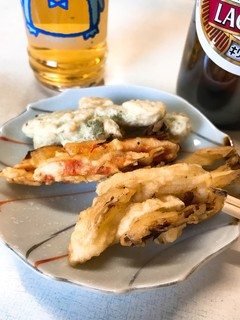 昭和食堂 - 野菜天の突き出し